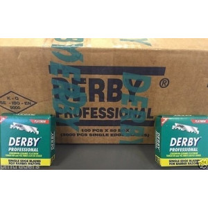 3X 5000 Derby Professional Single Edge Razor Blades